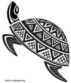 Turtle Tattoos | Polynesian and Hawaiian Tribal Turtle Designs