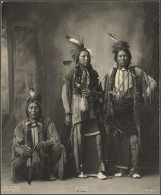 American Indians of the Kiowa tribe (c.1898)  Not really that long ago...
