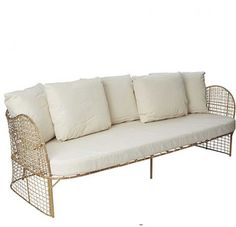 Rattan Sofa, 3 Sitzer, Design, Rattan Couch,| MY LOVELY HOME