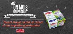 #yaourt brassé au lait de #chevre et aux #myrtilles ! Miam miam ! #Soignon