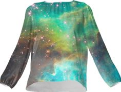 Green Galaxy Silk Top - Available Here: http://printallover.me/collections/sondersky/products/0000000p-green-galaxy-12