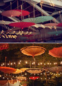 love the paper parasols