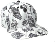 sports shoes 458c8 65238 NEFF surf skate BACK TO STEEZE white baseball adjustable snapback cap hat  NEW