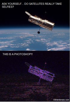 FAKE photo shop of the Hubble Space Telescope for your entertainement