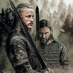 Vikings series Ragnar et Rollo Vikings Tv Show, Ragnar Vikings, Vikings Tv Series, Art Viking, Viking Warrior, Viking Age, Viking Shop, Ragnar Lothbrok, Floki