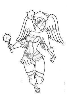 coloring pages hawkgirl | 1000+ images about super womens on Pinterest | Coloring ...