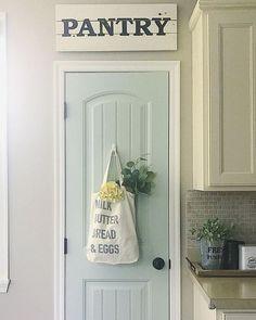 pantry door paint color Sea Salt
