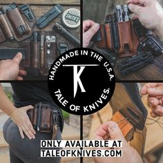 From our small American small business to the EDC community, we are proud to handcraft quality leather gear for your everyday carry. Only available from www.taleofknives.com Stitching Leather, Hand Stitching, Pocket Organizer, Edc Tools, Edc Gear, Everyday Carry, Leather Belts, Gears, Community