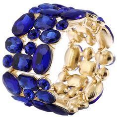 Faux Gem Geometric Bracelet (26 BRL) ❤ liked on Polyvore featuring jewelry, bracelets, gemstone jewelry, imitation jewelry, artificial jewellery, gemstone jewellery and imitation jewellery