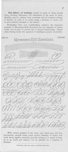 """Movement Drill Exercises"" #spencerian #penmanship #handwriting #practice #drills #iampeth"