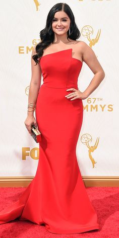 Ariel Winter - Emmys 2015 Red Carpet Arrivals - in Romona Keveza - from InStyle.com