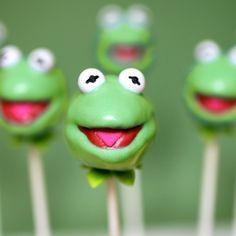 Kermit the Frog Cake Pops #Disney