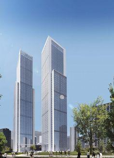 270米超高层办公综合体效果图