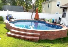 Semi-In Ground Pools, Partial In Ground, Hybrid Pool Nashville, Clarksville Small Backyard Pools, Backyard Pool Landscaping, Backyard Pool Designs, Small Pools, Swimming Pools Backyard, Semi Inground Pools, Lap Pools, Indoor Pools, Pool Spa