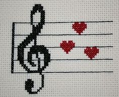 Cross Stitch Music, Cross Stitch Owl, Cross Stitch Flowers, Cross Stitch Embroidery, Cross Stitch Patterns, Loom Crochet, Crochet Rug Patterns, Crochet Chart, Knitting Charts