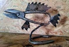 décoration intérieure, poisson (créé à partir de vieux outils)