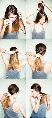 <3 me some messy ponytail