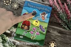 lawn fawn led-card «have a magical day Lawn Fawn, Cardmaking, Friendship, Paper Crafts, Led, Type, Cards, Making Cards, Paper Craft Work