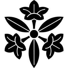 明山窯 家紋サーチ 三つ葉龍胆(みつばりんどう)