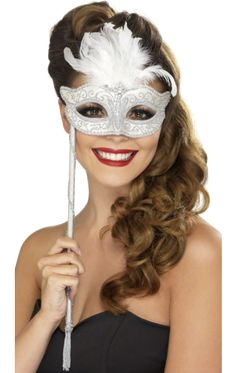 Masquerade Mask on Stick