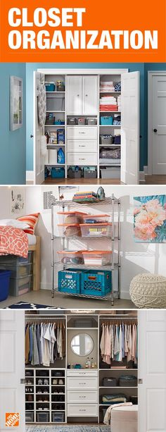 Closet Accessories - Closet Organizers - The Home Depot Smart Storage, Closet Storage, Closet Organization, Home Depot, Organizar Closet, Closet Accessories, Closet Bedroom, Master Closet, Master Bedroom
