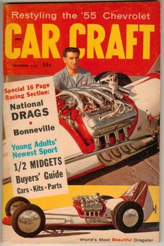 Car Craft December 1958 Old Vintage Magazine Classic Custom Hot Rod Chevy Ford