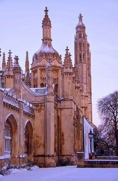 Kings Gatehouse In The Snow, Cambridge.