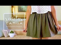 Transforma una CAMISA a una FALDA // DIY Recicla tus PLAYERAS! ♥ Alejandra's Styles - YouTube
