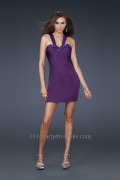Cheap Ruffled Jeweled Two Strap Cocktail Dresses for Prom Purple http   www. 910471f0a