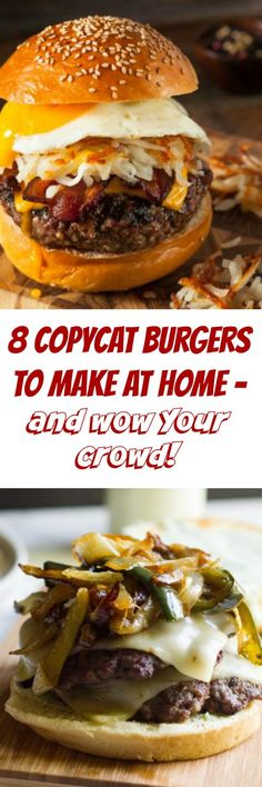 Copycat Burger Recipes to Make at Home – Looks Like Happy 8 Copycat Burger Recipes to Make at Home & Wow Your Crowd! – Looks Like Happy 8 Copycat Burger Recipes to Make at Home & Wow Your Crowd! – Looks Like Happy Hamburger Recipes, Beef Recipes, Healthy Recipes, Grilling Recipes, Recipies, Easy Dinner Recipes, Easy Meals, Holiday Recipes, Easy Recipes