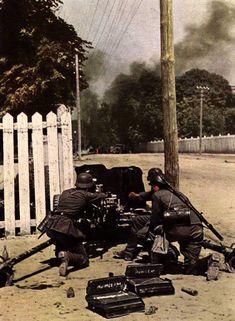 German artillery photos in World War