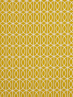 Yellow Geometric Upholstery Fabric Yardage - Yellow White Curtain Material - Home Decor Yellow - Fabric for Furniture