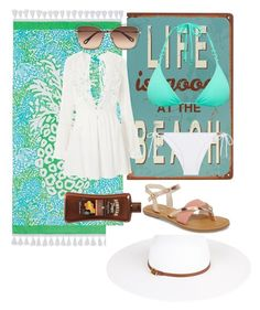"""""""Summer in grecce"""" by kbykiewicz on Polyvore featuring PBteen, Topshop, Chloé, ViX, Heidi Klein, Melissa Odabash, TOMS, BeachPlease and vacayoutfit"""