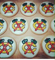 Just in time for the playoffs, Little Goat Diner has #Blackhawks cookies!
