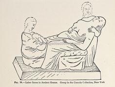 Labor scene in Ancient Greece; illustration