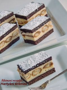 Bibimoni Receptjei: Hartyáni krémes Hungarian Desserts, Hungarian Recipes, Winter Food, Tiramisu, Cake Recipes, Cheesecake, Food And Drink, Cooking Recipes, Sweets
