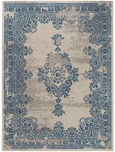 Teppich Antique Beige/Blau