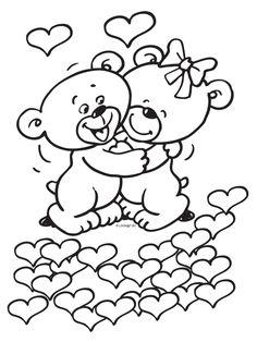 Afbeeldingsresultaat voor kleurplaten i love you mama Valentine Coloring Pages, Disney Coloring Pages, Adult Coloring Pages, Coloring Pages For Kids, Coloring Books, Valentines Day Clipart, Valentine Day Cards, Teddy Bear Coloring Pages, Valentines Illustration