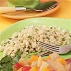 Garlic Parmesan Orzo --- good with chicken - (CAN SUB SOUR CREAM FOR MILK AND REALLY CREAMY!)