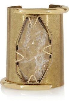 Lanvin Gold-tone crystal cuff | NET-A-PORTER