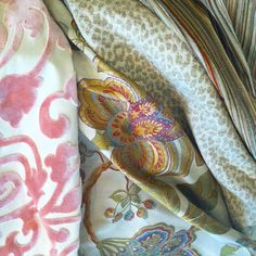 christinekohut.com fabric, upholstery, brocade, cheetah, velvet