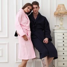 Winter Bathrobe Men Thick Cotton Male Women Bath Robes Gentlemen Homewear Male Sleepwear Lounges Pajamas Bathrobes White Lounge Pajamas Bathrobe Men Sleepwear