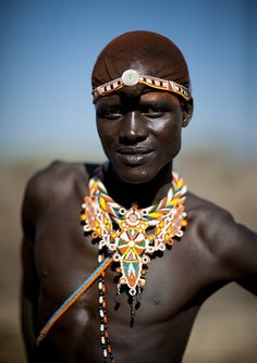 Samburu warrior with beaded ornaments - Kenya | Flickr - Photo Sharing!