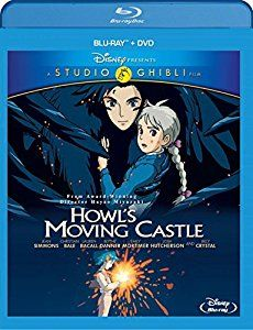 Amazon.com: Howl's Moving Castle (Two-Disc Blu-ray/DVD Combo): Jean Simmons, Christian Bale, Lauren Bacall, Blythe Danner, Billy Crystal, Emily Mortimer, Liliana Mumy, Josh Hutcherson, Hayao Miyazaki, Diana Wynne Jones: Movies & TV