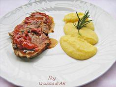 ARROSTO DI MAIALE CON POMODORINI E POLENTA ricetta saporita