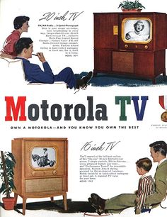 Motorola Television - 20 inch and 16 inch screen size.