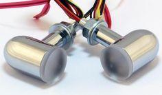 X-Arc LED Signal Brake Tail Run Light Dual Intensity Red Chrome Housing   eBay