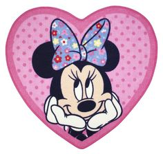 Character World Disney Minnie Mouse Shopaholic Shaped Rug:Amazon:Kitchen & Home