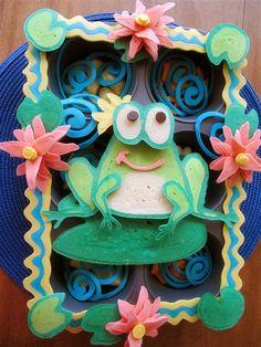 Frog Pancake Funfood for kids #color #creative  Jenni Price illustration: April 2011
