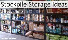 Stockpile Storage Ideas via MrsJanuary.com